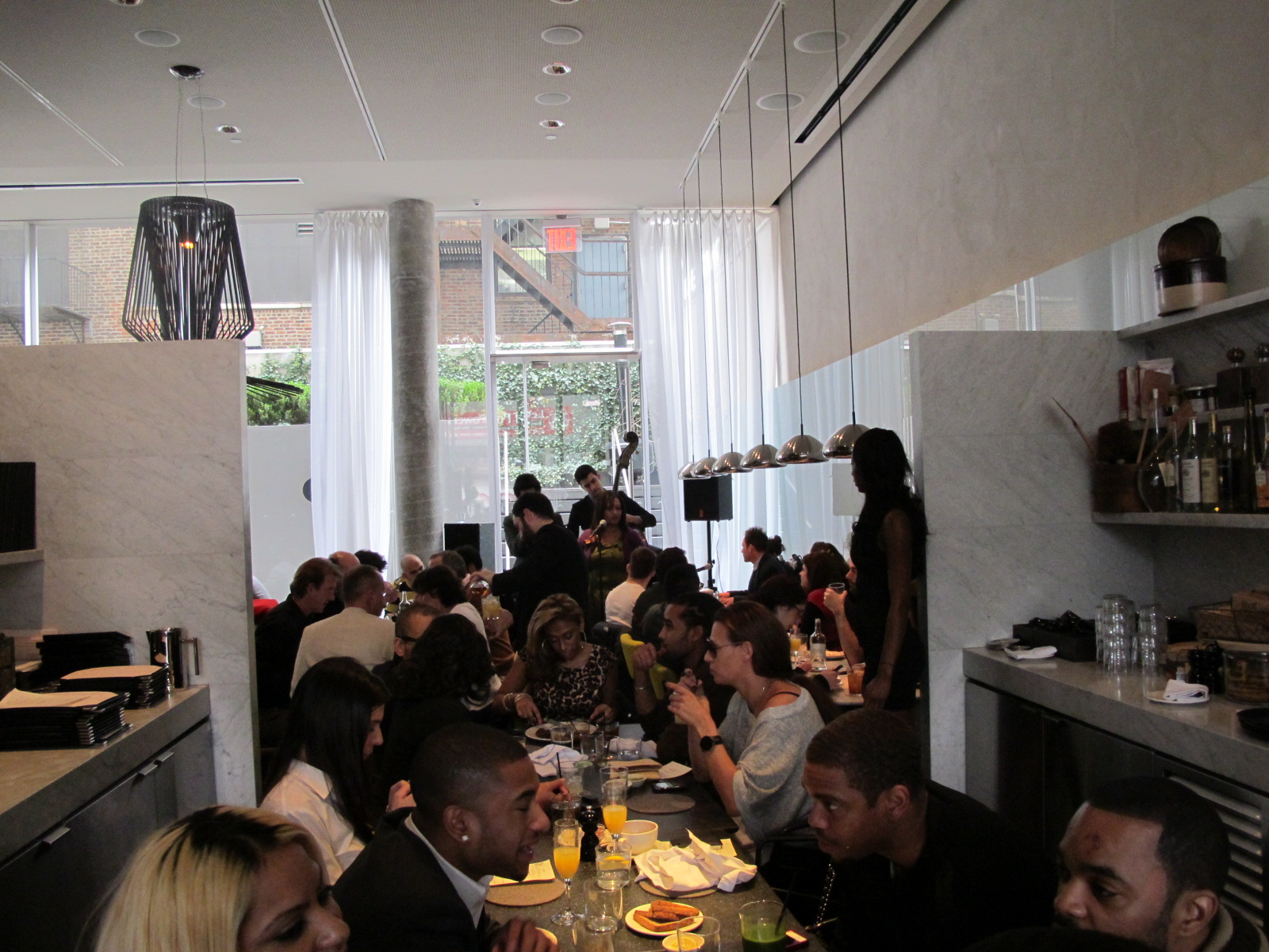 Grooved out sunday brunch what we like nyc for Hotel americano restaurant