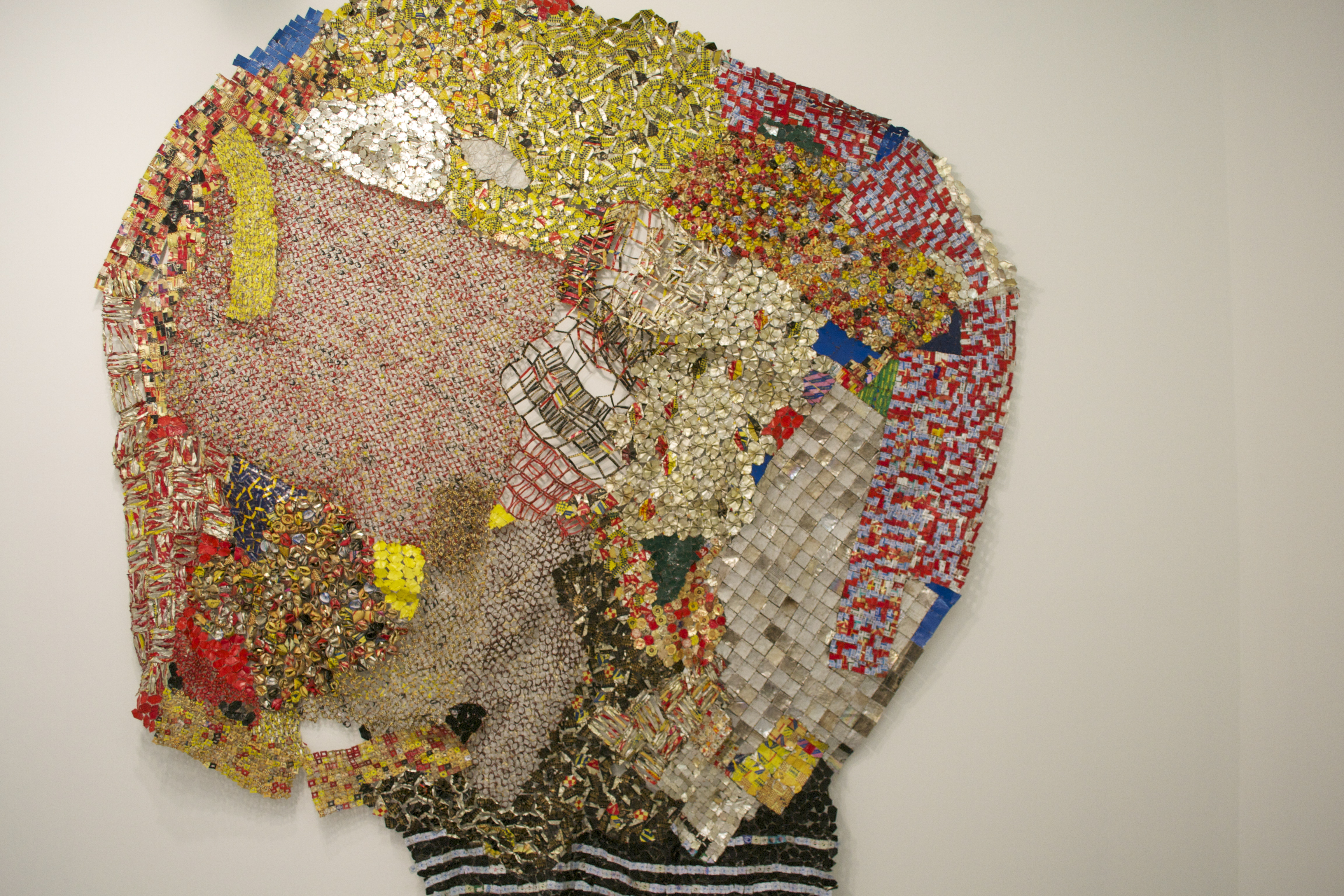 Nigerian artist el anatsuis spectacular and thought provoking works are currently on show at jack shainman gallery in chelsea at first glance the large