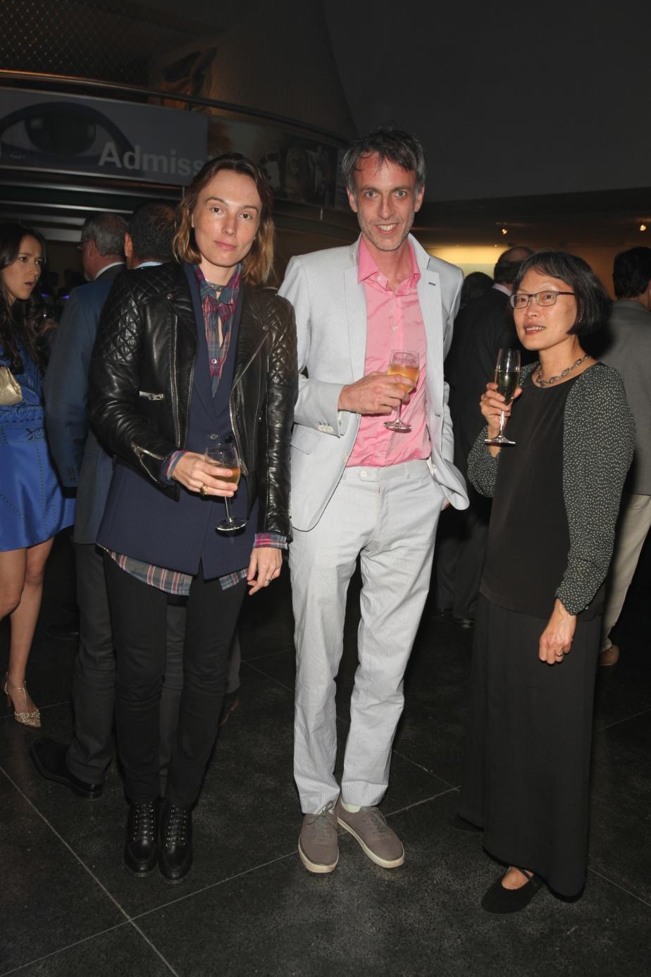 Mirabelle Martin, Artist Jules de Balincourt and Curator Eugenie Tsai