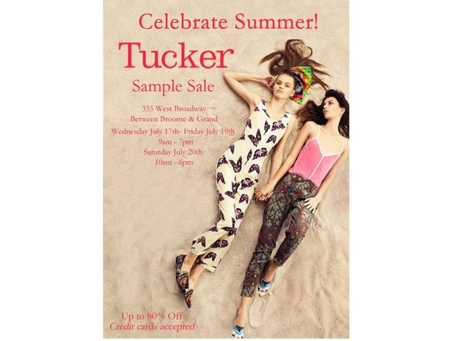 tucker sample sale copy