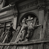 Boys Playing at Abandoned Building, NYC, 1949