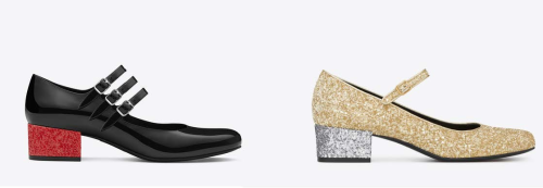 Saint Laurent Glitter Mary Janes