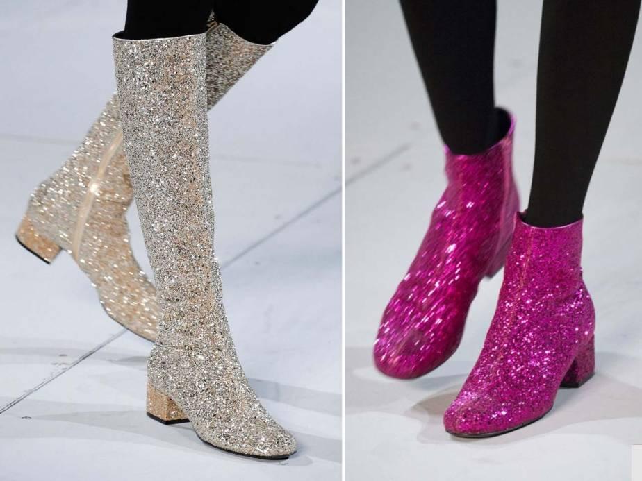 ysl glitter boots